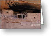 Cliff Dwellers Greeting Cards - Keet Seel 2 Greeting Card by Bob Christopher