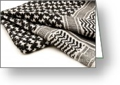 Cut Out Greeting Cards - Keffiyeh Greeting Card by Fabrizio Troiani