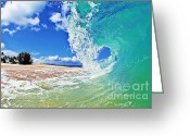Surf Photos Art Greeting Cards - Keiki Beach Wave Greeting Card by Paul Topp