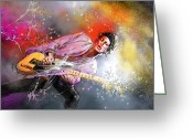 Rolling Stones Mixed Media Greeting Cards - Keith Richards 02 Greeting Card by Miki De Goodaboom