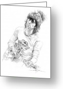 Music Icon Greeting Cards - Keith Richards Exile Greeting Card by David Lloyd Glover