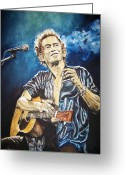 Rolling Stones Painting Greeting Cards - Keith Richards Greeting Card by Lance Gebhardt