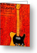 Iconic Guitars Greeting Cards - Keith Richards Micawber Greeting Card by Karl Haglund