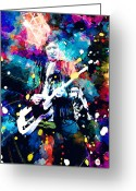 Rolling Stones Painting Greeting Cards - Keith Richards Greeting Card by Rosalina Atanasova