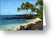 Islands Digital Art Greeting Cards - Kekaha Kai II Greeting Card by Kurt Van Wagner