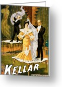 Tricks Greeting Cards - Kellar Presenting His Latest and Greatest Wonder Greeting Card by Unknown