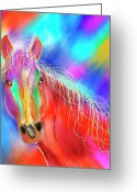 Contemporary Horse Digital Art Greeting Cards - Kellie  Greeting Card by Darla Sikes