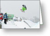 Snow Boarding Greeting Cards - Kelly Clark Womens U S Snow Boarding Open 2011 Greeting Card by Linda Pulvermacher