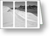 Kelso Greeting Cards - Kelso Dunes Triptych Greeting Card by Kelley King