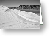 Kelso Greeting Cards - Kelso Sand Dunes BW Greeting Card by Kelley King