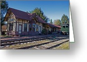 Berks County Greeting Cards - Kempton Station Greeting Card by Robert Sander