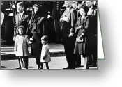 Lbj Greeting Cards - Kennedy Funeral, 1963 Greeting Card by Granger
