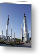 Redstone Greeting Cards - Kennedy Space Center Rocket Garden Greeting Card by Mark Williamson