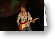 Fender Stratocaster Greeting Cards - Kenny Loggins Greeting Card by Bill Gallagher