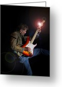 Fender Stratocaster Greeting Cards - Kenny Loggins III Greeting Card by Bill Gallagher