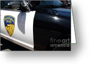 Cop Cars Greeting Cards - Kensington California Police Car . 7D15876 Greeting Card by Wingsdomain Art and Photography