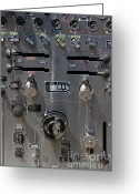 Knobs Greeting Cards - Kensington Fire District Fire Engine Control Panel . 7D15857 Greeting Card by Wingsdomain Art and Photography
