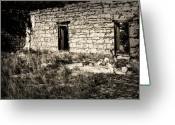 Black Mesa Greeting Cards - Kenton Ruins Greeting Card by Fred Lassmann