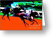 Churchill Downs Greeting Cards - Kentucky Derby Greeting Card by RJ Aguilar