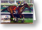 Kentucky Greeting Cards - Kentucky Derby Winner Street Sense Greeting Card by Dave Olsen