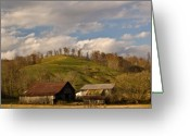 Morgan Greeting Cards - Kentucky Mountain Farmland Greeting Card by Douglas Barnett