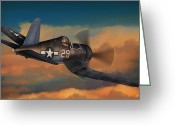Usn Greeting Cards - Kepford on Patrol Greeting Card by Dale Jackson