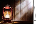 Diffused Greeting Cards - Kerosene Lantern Greeting Card by Olivier Le Queinec