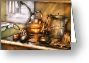 Kettle Greeting Cards - Kettle - Tea pots and Irons Greeting Card by Mike Savad