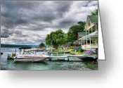Storm Prints Greeting Cards - Keuka Lake Shoreline Greeting Card by Steven Ainsworth