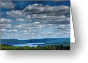 Acrylic Print Greeting Cards - Keuka Landscape IV Greeting Card by Steven Ainsworth