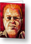 Featured Painting Greeting Cards - Kevin is the man Greeting Card by Charles Peck
