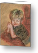 Fun Pastels Greeting Cards - Kevins Secret Greeting Card by Penny Ross