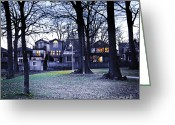 Residential Greeting Cards - Kew Park at dusk Greeting Card by Elena Elisseeva