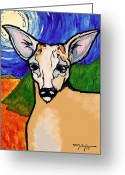 Florida Key Deer Greeting Cards - Key Deer Greeting Card by William Depaula