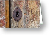Weathered Greeting Cards - Key hole Greeting Card by Carlos Caetano