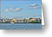 Ocean Front Greeting Cards - Key Largo Houses Greeting Card by Chris Thaxter