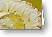 Whipped Topping Greeting Cards - Key Lime Pie  Greeting Card by Susan Leggett