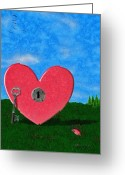 Jeff Kolker Greeting Cards - Key to My Heart Greeting Card by Jeff Kolker