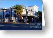 Must See Greeting Cards - Key West Bar Sloppy Joes Greeting Card by Susanne Van Hulst