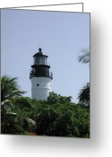 N Taylor Greeting Cards - Key West Lighthouse Greeting Card by N Taylor