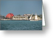 Florida House Greeting Cards - Key West Shoreline Greeting Card by Frank Mari
