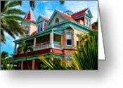 Most Greeting Cards - Key West Southern Most Hotel Greeting Card by Bill Cannon