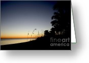Key West Island Greeting Cards - Key West Sunset Greeting Card by Heather Applegate