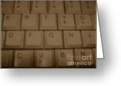 Typewriters Greeting Cards - Keyboard - Photography - Digital Art Greeting Card by Rebecca Anne Grant