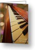 Steinway  Greeting Cards - Keys Greeting Card by Cheryl Young