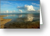Cumulus Greeting Cards - Keys Reflections Greeting Card by Mike  Dawson