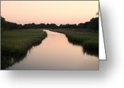 Kiawah Island Digital Art Greeting Cards - Kiawah Island at Dusk Greeting Card by Melanie Snipes