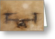 Landing Painting Greeting Cards - Kicking Sand Greeting Card by Stephen Roberson