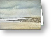 Mayo Greeting Cards - Kilcummin back strand Greeting Card by Marion Galt