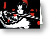 Kill Greeting Cards - Kill Bill Greeting Card by Luis Ludzska